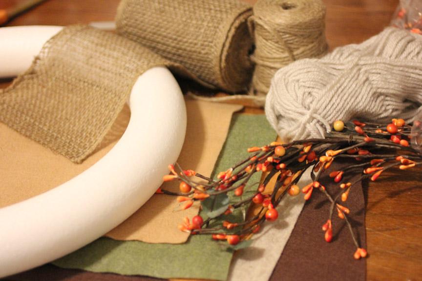 Fall Burlap Banner Materials